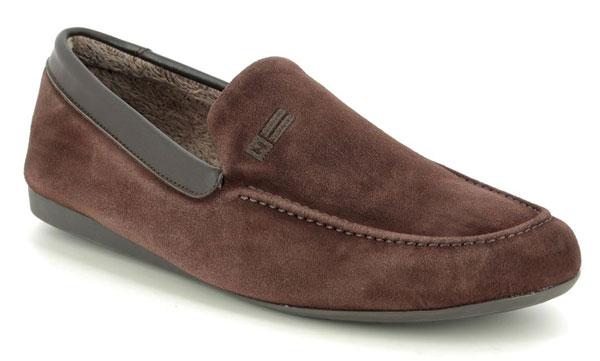 Nordikas slipkas men's leather slippers