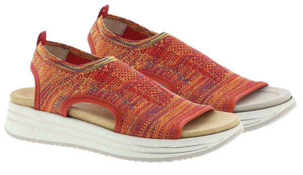 Remonte Leniaslip R2955-38 Orange Walking Sandals for Holiday