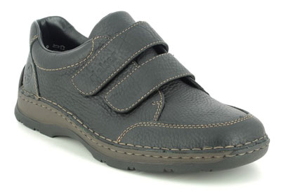 Rieker 05350-00 Men's Velcro Shoes for Back Pain
