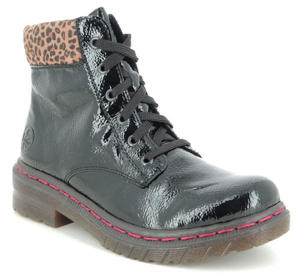 Rieker 76212 Docsy Lep Black Combat Boots