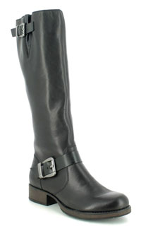 Rieker Z9580-00 Black Knee High Boots