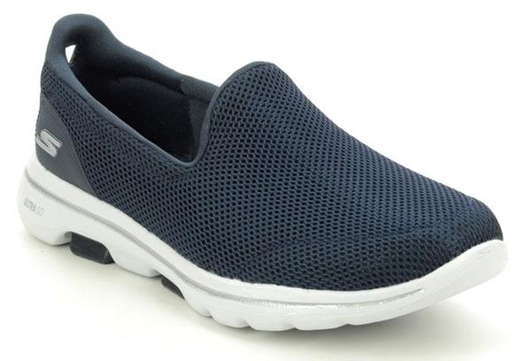 Skechers Go Walk 5 Navy Slip on House Shoes