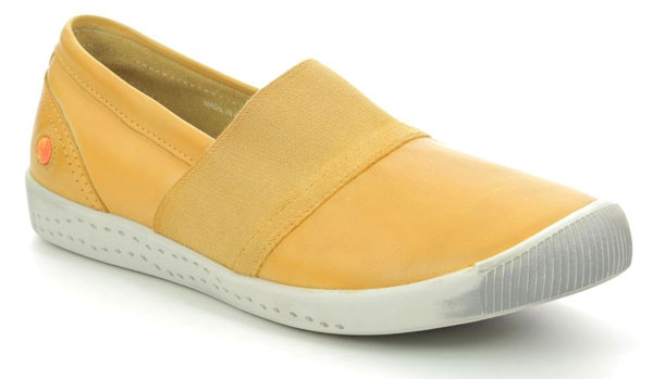 Softinos Leather Slip on Trainers