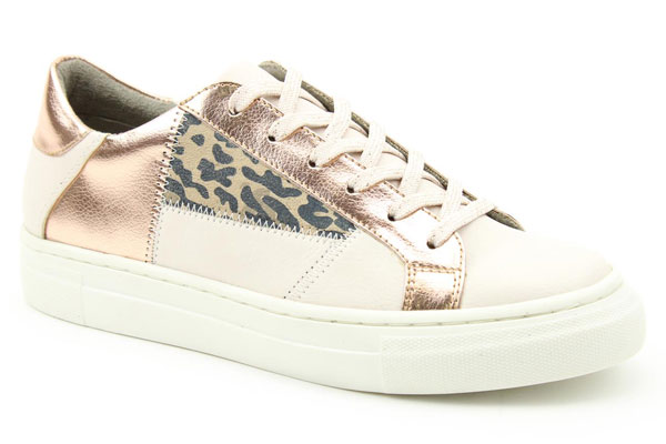 Heavenly Feet Valentina White Rose Gold Trainers Summer Shoe Trend