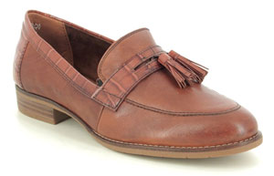 Tamaris Malika Tan Leather Loafers Essential Shoes