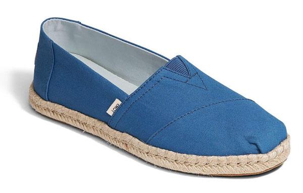 Toms Classic Ivy Blue Espadrilles