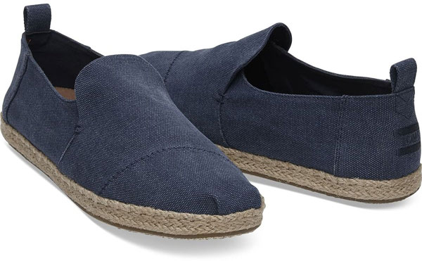 Toms Deconstructed Navy Slip on Shoes