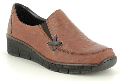 Rieker 53783-22 Tan Leather Slip on Shoes