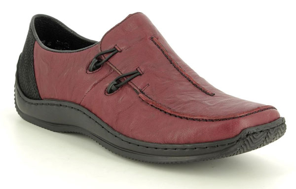 Rieker L1751-35 Wine Leather shoes