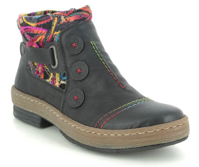 Rieker Z6759-00 Black Ankle Boots