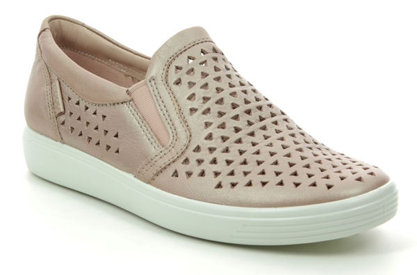 ECCO Soft 7 Laser Rose Pink Slip on Shoes