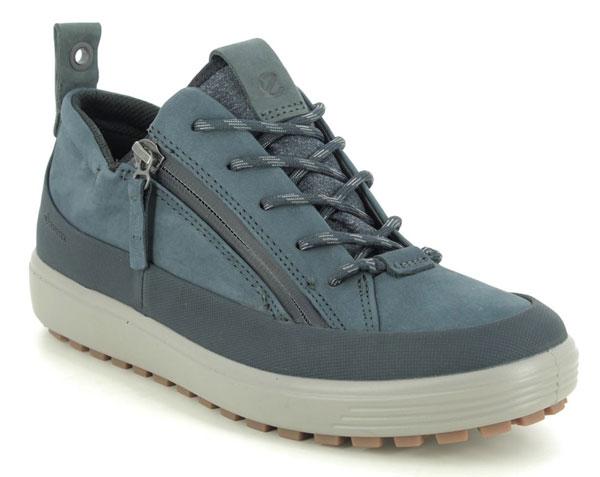 ECCO Soft 7 Log GTX Navy Walking Shoes