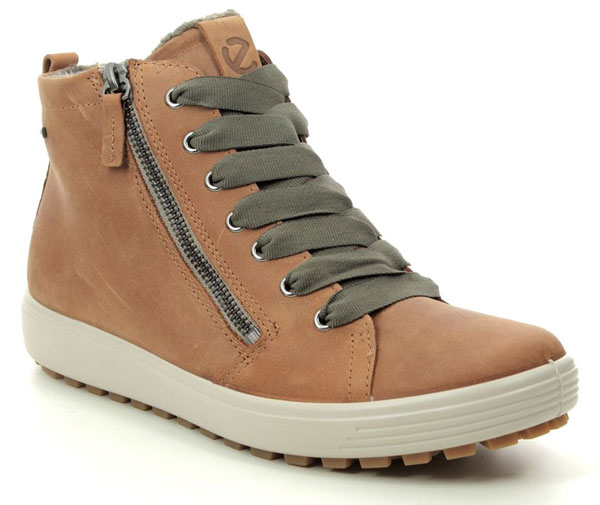 ECCO Soft 7 Tred GTX Tan Ankle Boots