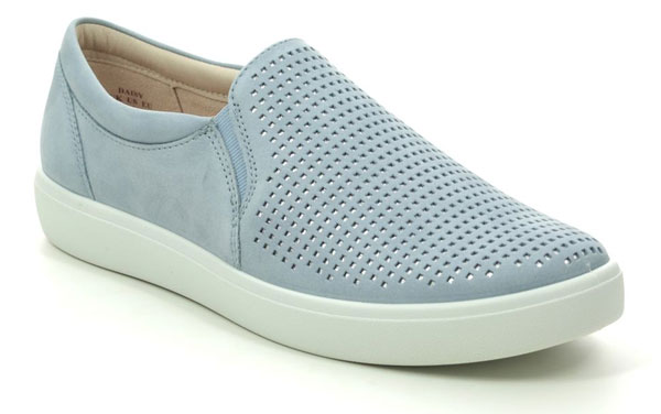 Hotter Daisy E Fit Pale Blue Slip on Trainers