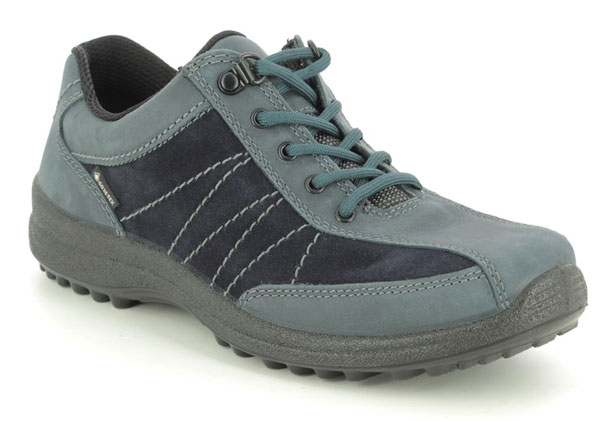 Hotter Mist Gore Tex Navy Nubuck Walking Shoes
