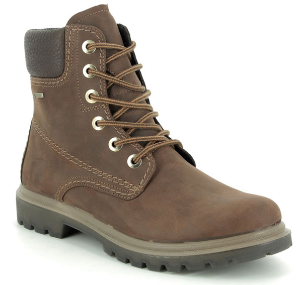Legero Monta Lace Gore Tex Brown Lacing Ankle Boots
