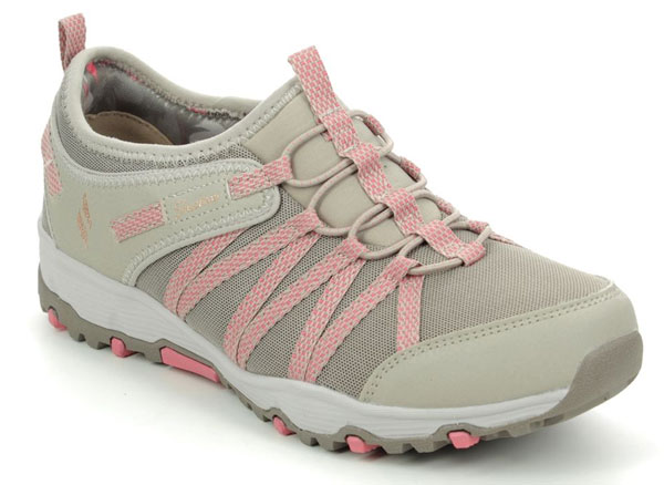 Skechers Seager Hiker Taupe Slip on Trainers