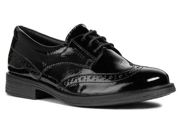 Geox Agata D Lace Girls Brogue School Shoes