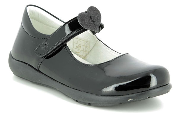 Primigi Emy girls black school shoes