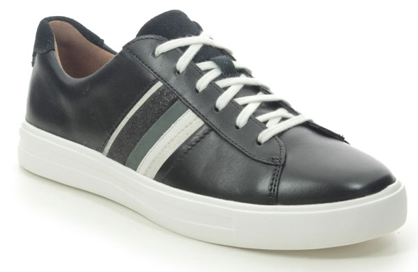 Clarks Un Maui Band Black Trainers for Sweaty Smelly Feet