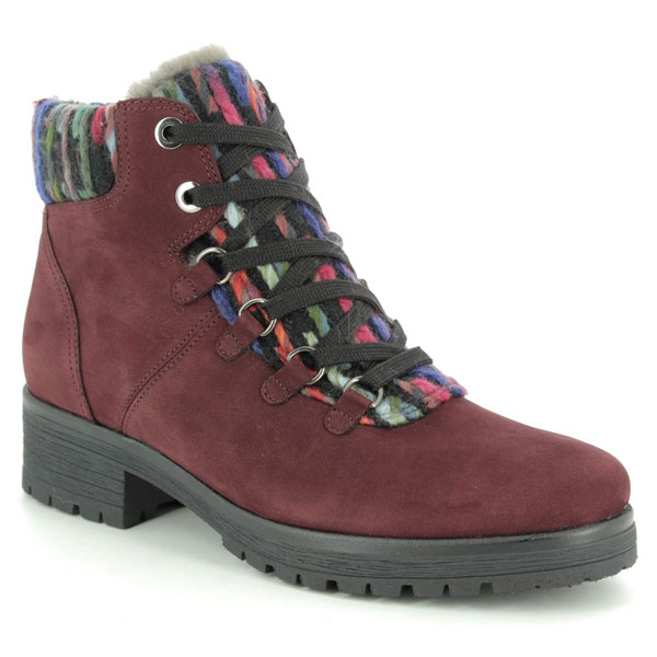 Gabor Innocent Red Ankle Boots for Corns