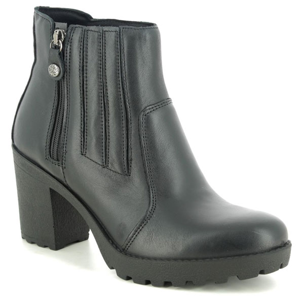 IMAC Vicky Black Heeled Ankle Boots for Corns