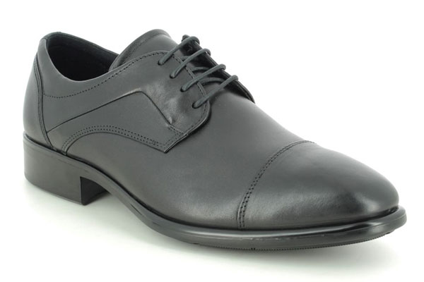 ECCO Citytray Black Smart Shoes for Back Pain