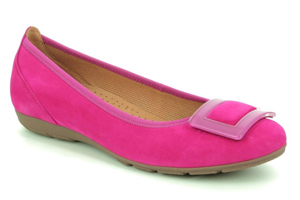 Gabor Riband Fuchsia Pumps for Back Pain
