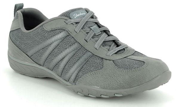 Skechers Breathe Easy Grey Comfort Trainers