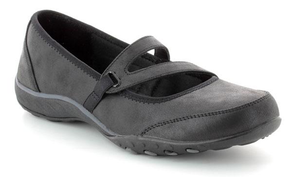 Skechers Calmly Wide Fit Black Shoes