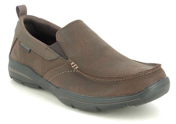Skechers Harper Forde Brown Slip on Shoes