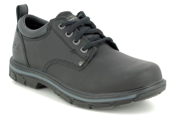 Skechers Segment Rilar Black Wide Fit Shoes