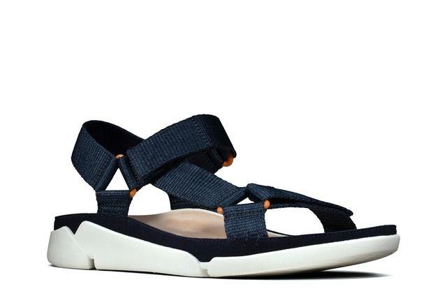 Clarks Tri Sporty D Fit Navy Comfortable Sandals