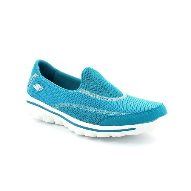 Skechers Trainers & Canvas - Turquoise - 13591/14 GO WALK 2 13591