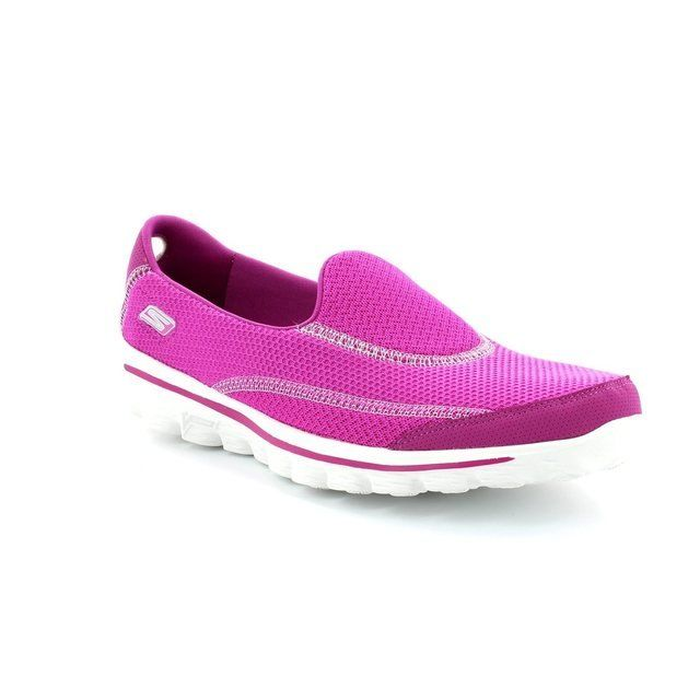 Skechers Go Walk 2 13591 RASP Raspberry pink trainers