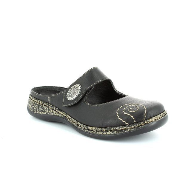Rieker Slippers & Mules - Black - 46382-00 LINOHA