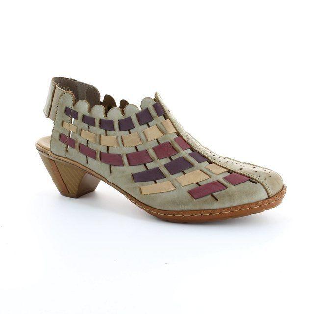 Rieker Heeled Shoes - Taupe multi - 46778-62 SINA