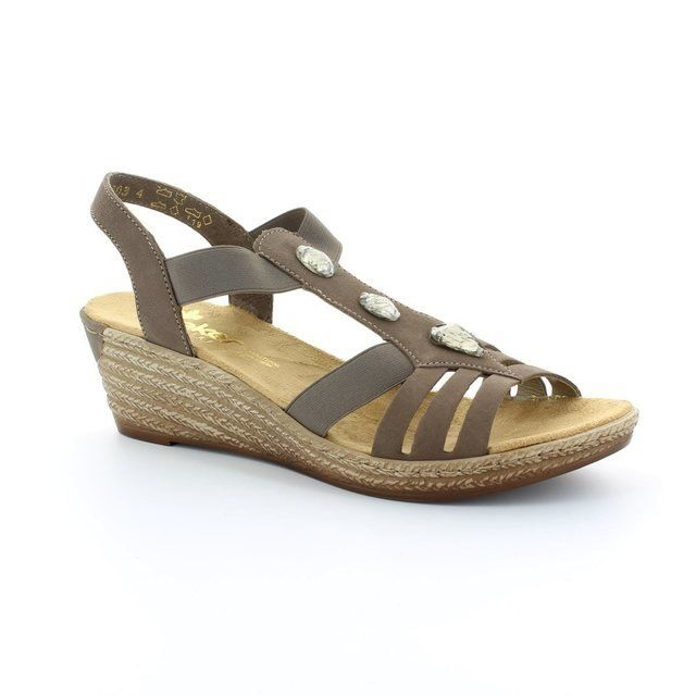Rieker Sandals - Taupe - 62469-42 FAWNISH
