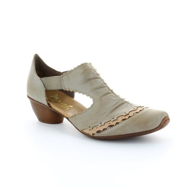 Rieker 43783-62 Taupe multi heeled shoes