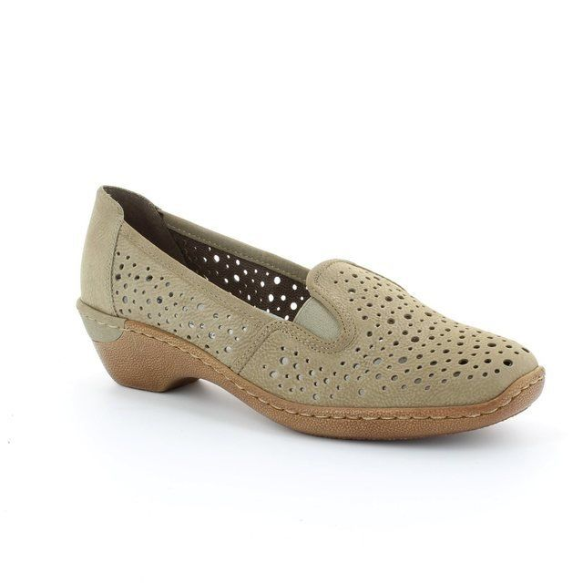 Rieker 48353-60 Taupe comfort shoes