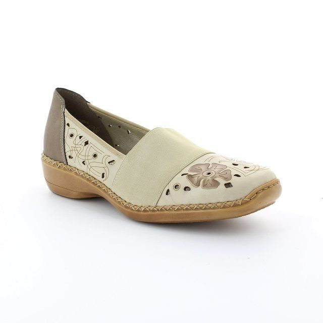 Rieker 41384-60 Beige multi comfort shoes