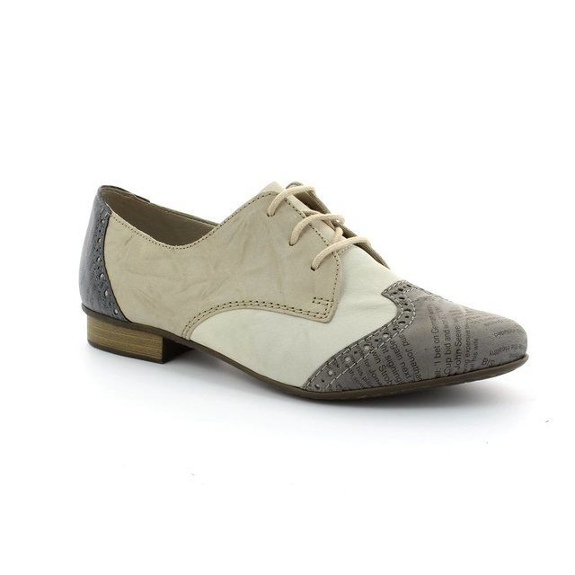 Rieker 51936-40 Taupe multi lacing shoes