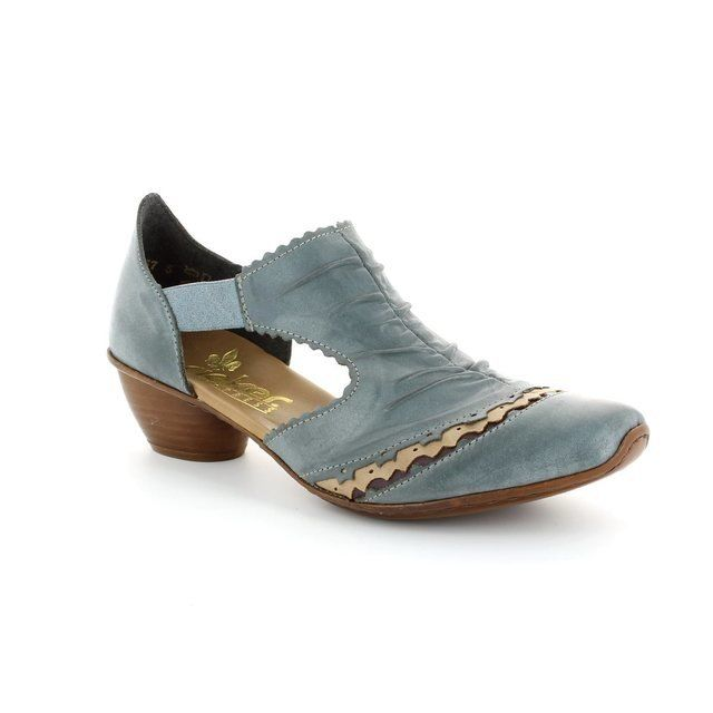 Rieker 43783-12 Pale blue multi heeled shoes
