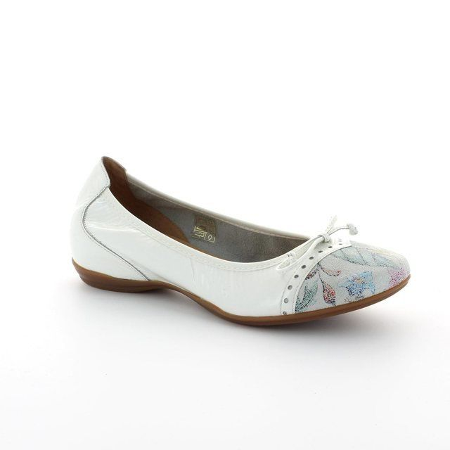 Wonders Pumps & Ballerinas - White patent multi - A3030/60 COCO