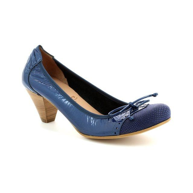 Wonders I8391-70 Navy patent-suede high-heeled shoes