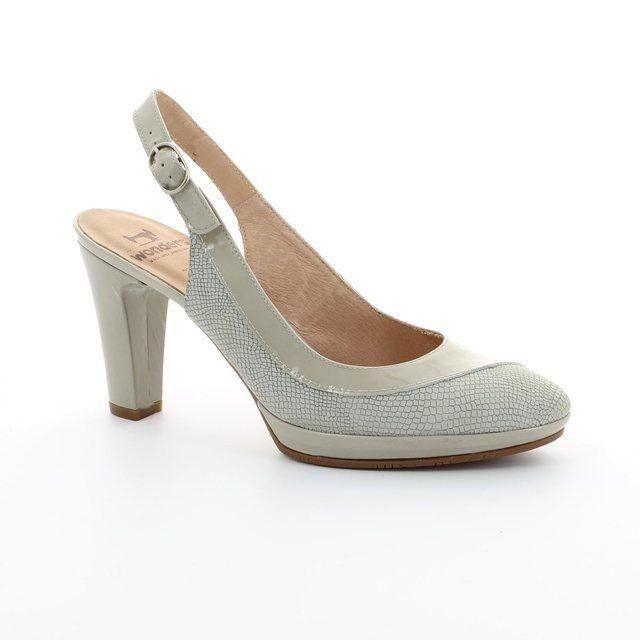 Wonders Heeled Shoes - Beige multi - M1021/50 SWING