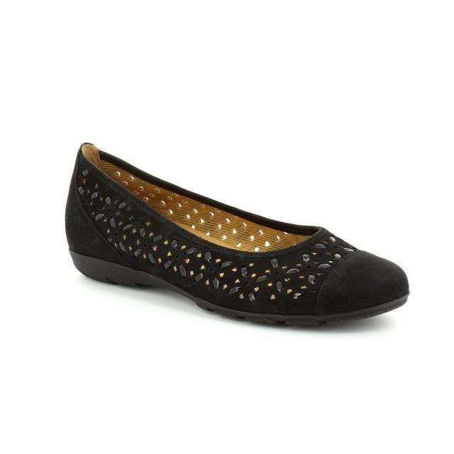 Gabor Florida 24.167.17 Black nubuck pumps