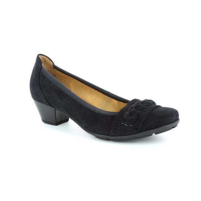 Gabor Kretas 25.413.16 Navy suede heeled shoes