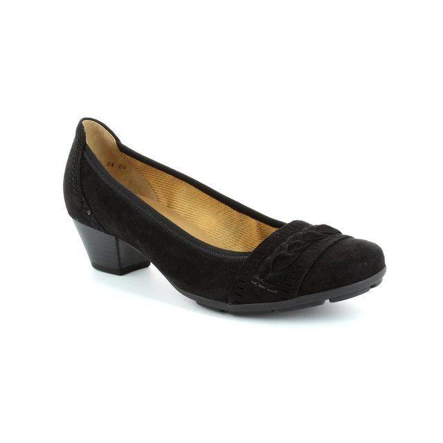 Gabor Heeled Shoes - Black suede - 25.413.17 KRETAS