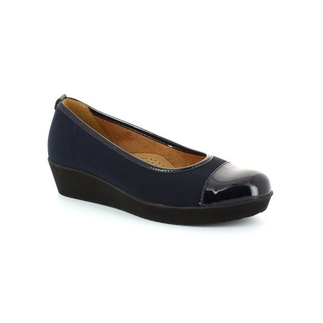 Gabor Heeled Shoes - Navy patent - 46.471.86 WED